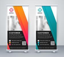banner di presentazione aziendale rollup in due colori