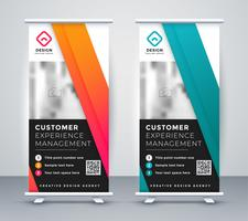 company rollup presentation banner in two colors