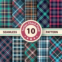 Classico scozzese, Merry Christmas check plaid seamless patterns.