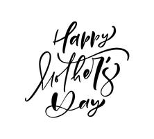 Happy Mother's Day lettering black vector calligraphy text.