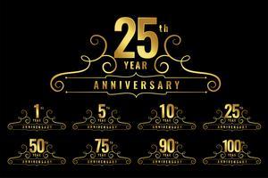 premium verjaardag logo embleemset
