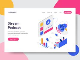 Landing page template of Podcast Stream