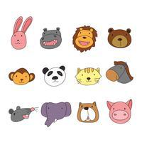 diseño de personajes cabeza de animales