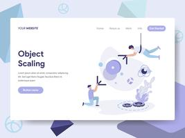 Landing page template of 3d Scale modification Illustration Concept. Isometric flat design concept of web page design for website and mobile website.Vector illustration