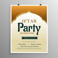 islamisk banderolldesign med iftar festinbjudan