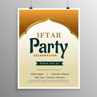 islamic banner design with iftar party invitation