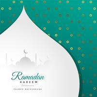saudação de festival ramadan kareem bonito