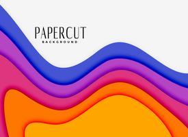camadas de papercut vibrantes em cores diferentes