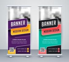 modello di design creativo banner rollup alla moda