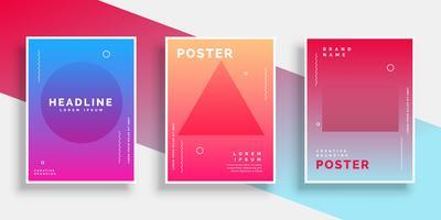 minimal geometrisk memphis stil affisch bakgrundsset