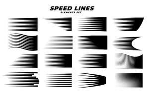 komische Bewegungsgeschwindigkeitslinien des Mangas eingestellt