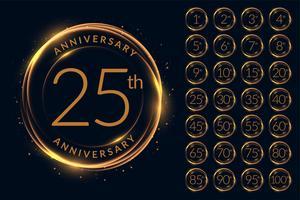 årsdag logotypdesign stor uppsättning
