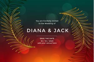 premium lyx bröllopskort design mall