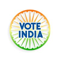 vote india charkra in indian flag colors