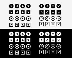 conjunto de iconos de signo de flecha grande