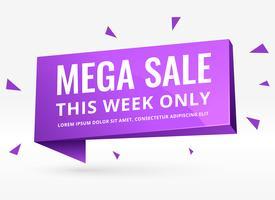 purpurrote Fahne des Verkaufs 3d für Förderung und Marketing