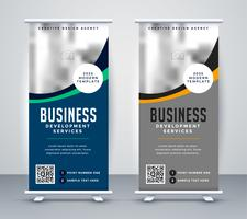 abstrakter wellig Business Standin Rollup Banner Design