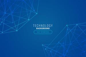 abstrakt tech trådnät blå bakgrund