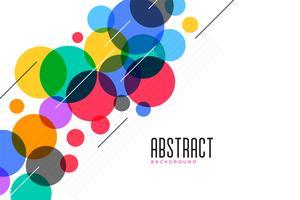 Fondo de círculos de colores con líneas