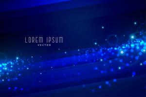 digital blue glowing particles technology background