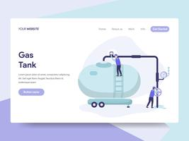 Landing page template of Gas Tank Illustration Concept. Isometric flat design concept of web page design for website and mobile website.Vector illustration