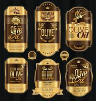 Olive oil retro labels collection