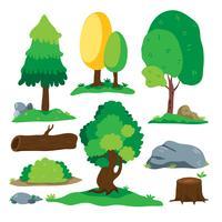 projeto de coleção de vetor de árvore