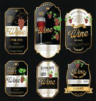 Etichetta di lusso vino d'oro