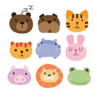 conception de collection tête d'animaux
