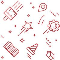 Creative pattern. Flat line doodle style objects for packaging or other purposes