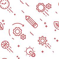 Creative pattern. Flat line doodle style objects for packaging or other purposes vector