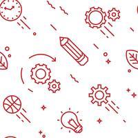 Creatief patroon. Platte lijn doodle stijlvoorwerpen voor verpakking of andere doeleinden