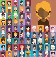 Avatar collection of various male and female characters vector