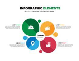 Vektorelemente für Infografik. Vorlage für Diagramm, Grafik, Präsentation und Diagramm.