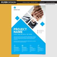 Conception de flyer ou brochure professionnelle, illustration vectorielle abstraite