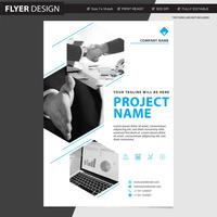 Flyer or brochure professional vector design, abstract magazine cover catalogue  illustration