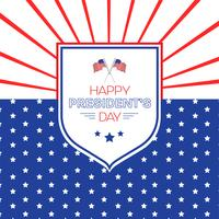 Happy President's day design background with copy space