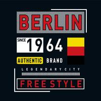 tee di design tipografia città leggendario di Berlino