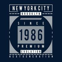 brooklyn evolution typografi design tee