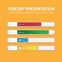 Plantilla de barra de porcentaje de infografía de negocios con 4 opciones