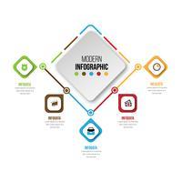 Elementos do vetor para infográfico. Modelo de diagrama, gráfico, apresentação e gráfico.