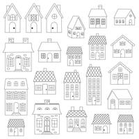 Houses Digital Stamps Clipart