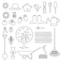Jardinage Timbres Numériques Clipart