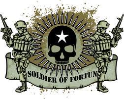 aggressive emblem with skull