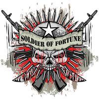 aggressives Emblem mit Totenkopf vektor