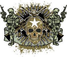 emblema agressivo com crânio