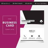 Professional Business card concept design, abstract vector illustration