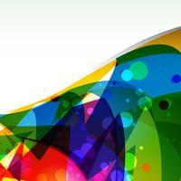 kleurrijke golf achtergrond