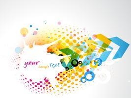 vector colorido abstracto