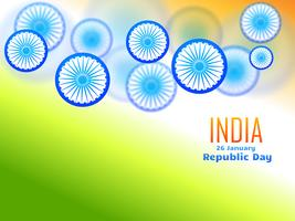 republic day design made with wheel